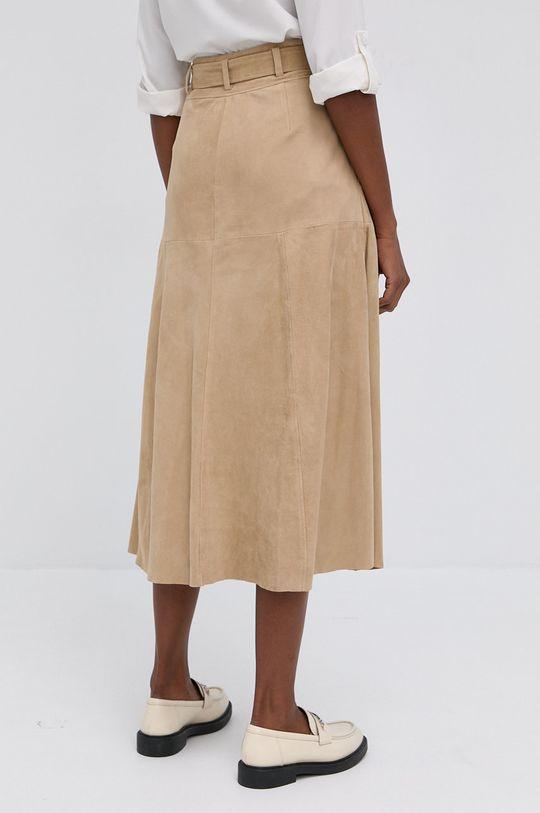 Lauren Ralph Lauren - Semišová sukně  100% Semišová kůže