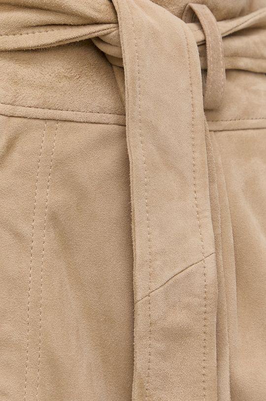 béžová Lauren Ralph Lauren - Semišová sukně