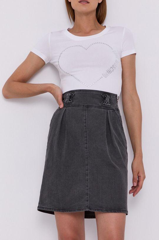 szary Love Moschino - Spódnica jeansowa Damski