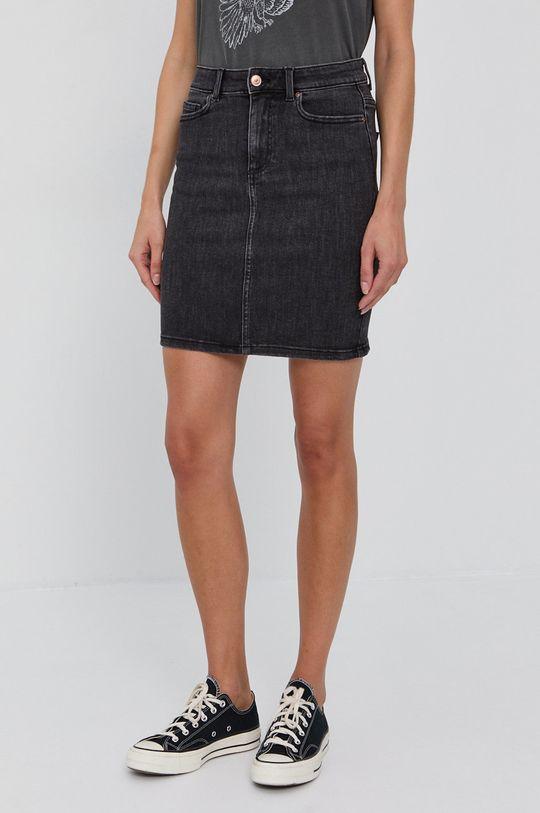 czarny Pieces - Spódnica jeansowa Damski