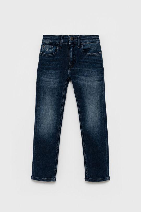 granatowy Calvin Klein Jeans - Jeansy dziecięce Chłopięcy
