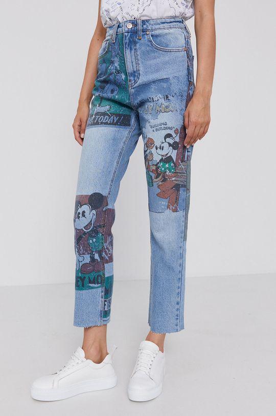 albastru Desigual - Jeansi x Disney De femei