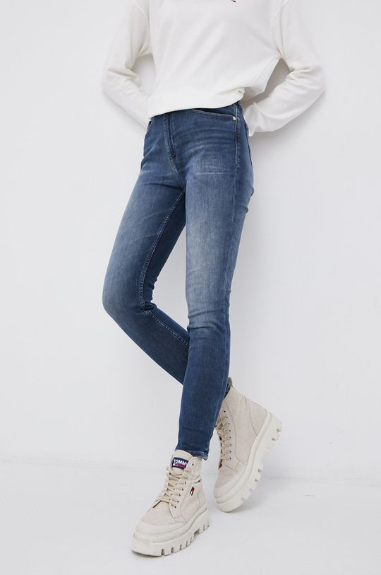 granatowy Tommy Jeans - Jeansy Shape Damski
