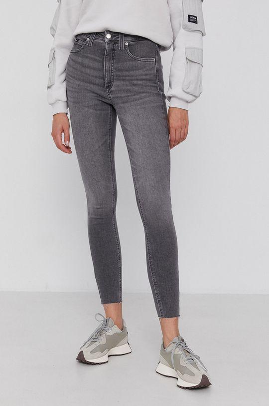 szary Calvin Klein Jeans - Jeansy Damski