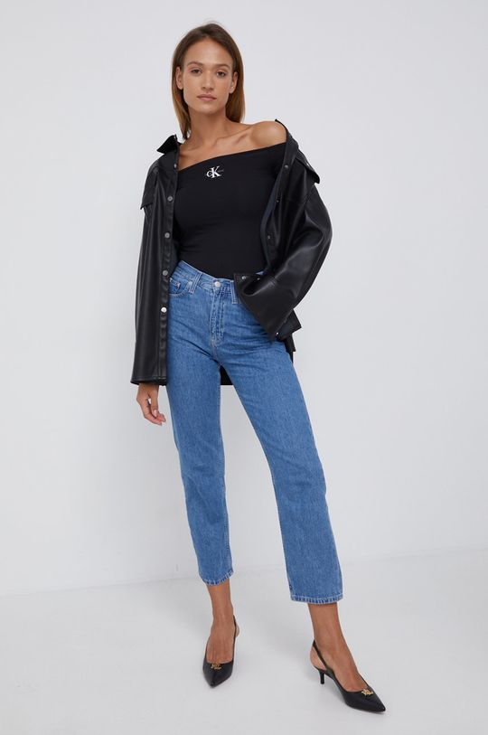 niebieski Calvin Klein Jeans - Jeansy Carol Damski