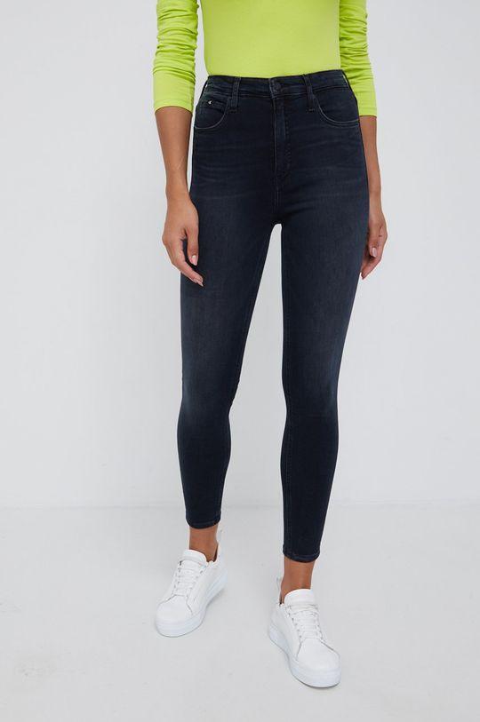 czarny Calvin Klein Jeans - Jeansy High Rise Super Skinny Ankle Damski