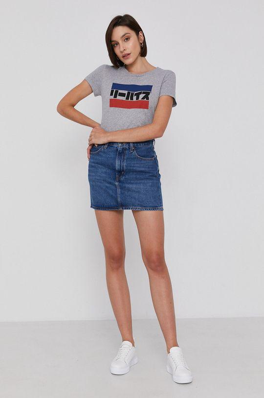 Levi's - Spódnica jeansowa niebieski