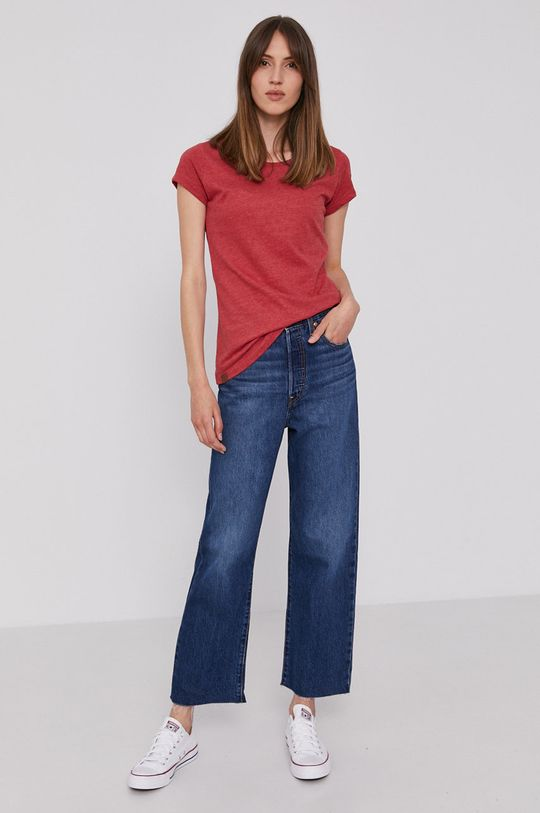 Levi's - Jeansy Ribcage Straight Ankle granatowy