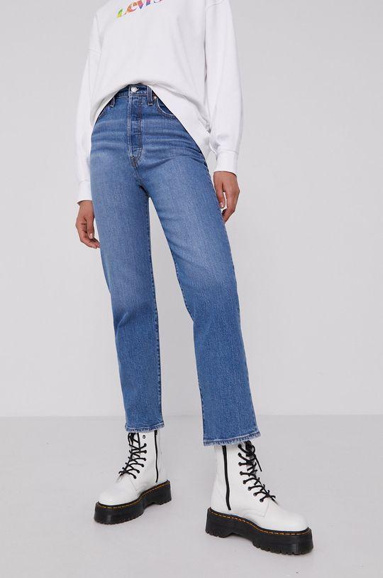 niebieski Levi's - Jeansy Ribcage Straight Ankle Damski