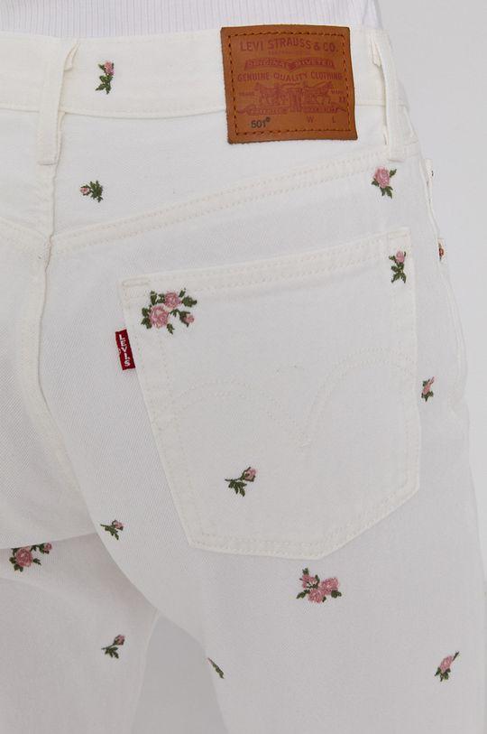 biały Levi's - Jeansy 501