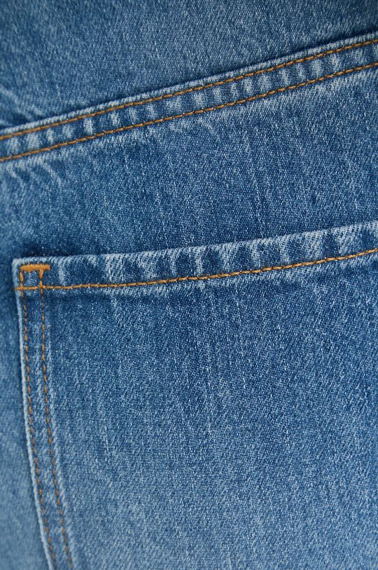 Boss - Jeansy bawełniane Straight Crop Damski