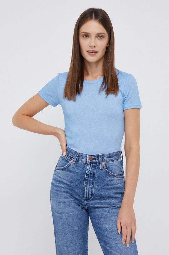 niebieski Wrangler - T-shirt Damski