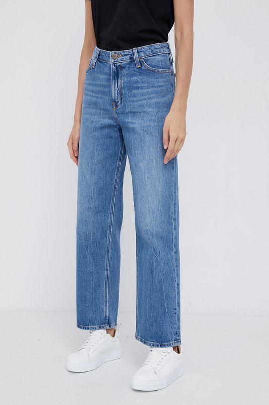 niebieski Lee - Jeansy Wide Leg Long Damski