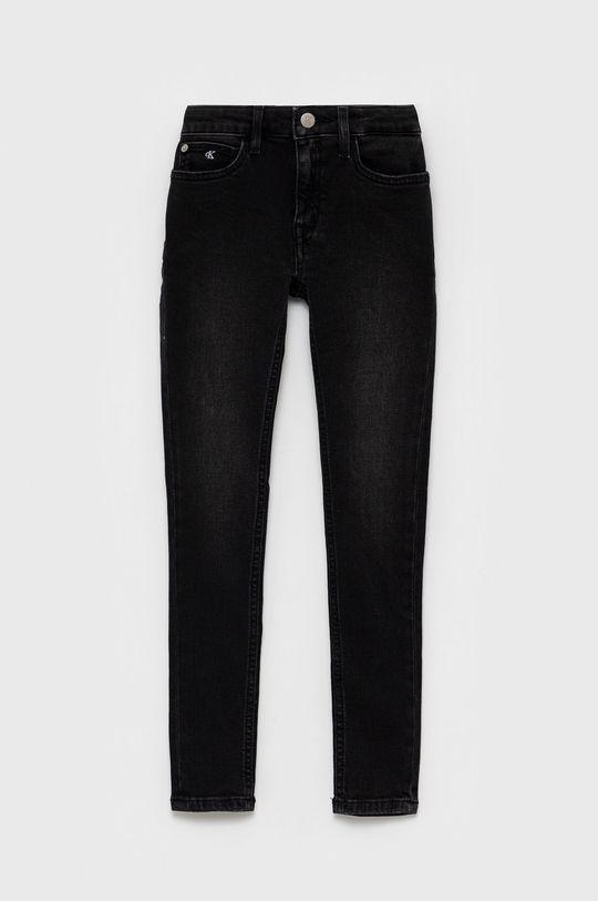 szary Calvin Klein Jeans - Jeansy dziecięce Dziewczęcy