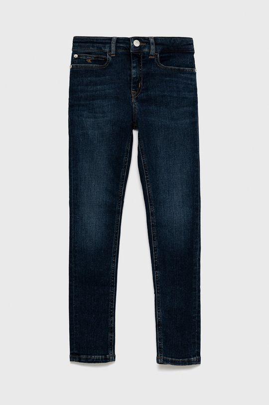 granatowy Calvin Klein Jeans - Jeansy dziecięce Dziewczęcy