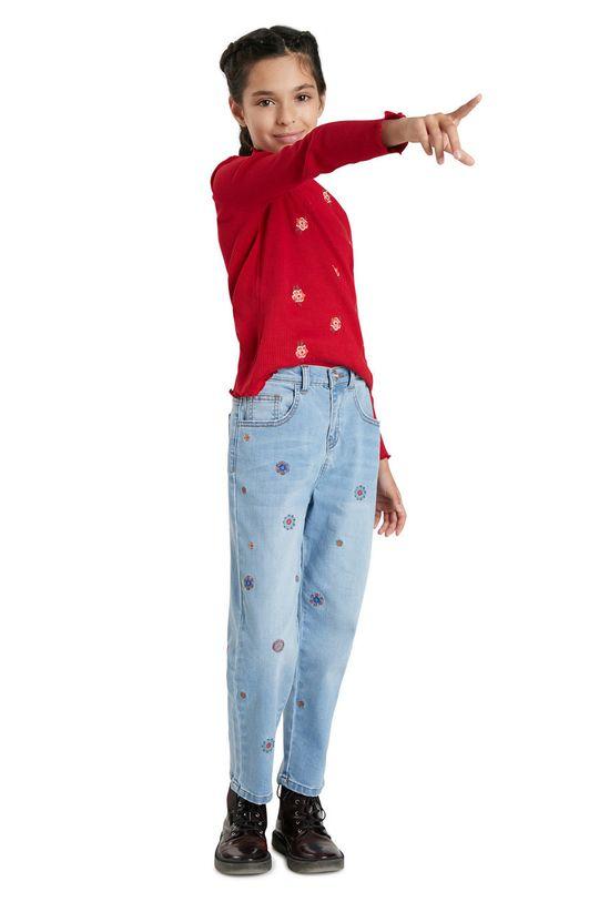blady niebieski Desigual - Jeansy dziecięce Dziewczęcy