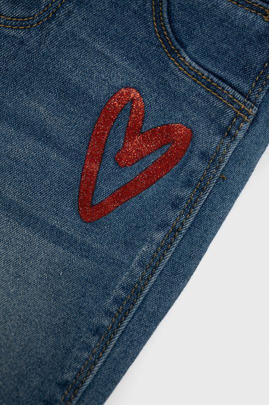 Desigual - Jeansy dziecięce 68 % Bawełna, 1 % Elastan, 22 % Poliester, 9 % Wiskoza, Wskazówki pielęgnacyjne:  nie suszyć w suszarce bębnowej, nie wybielać, prasować w niskiej temperaturze, prasować w średniej temperaturze