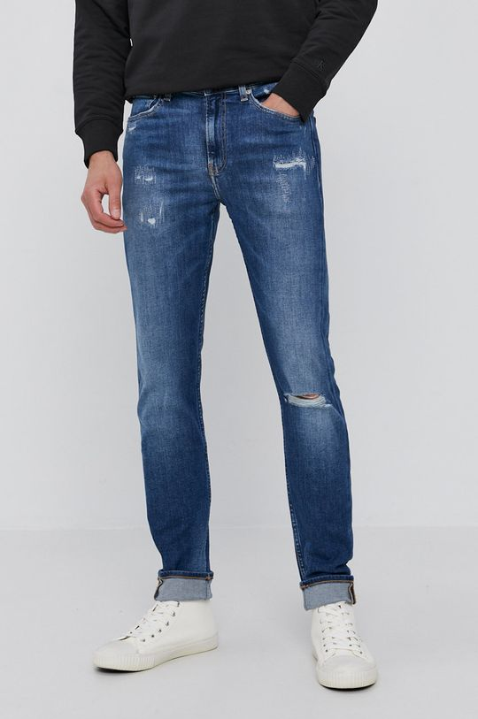 modrá Calvin Klein Jeans - Džíny Pánský