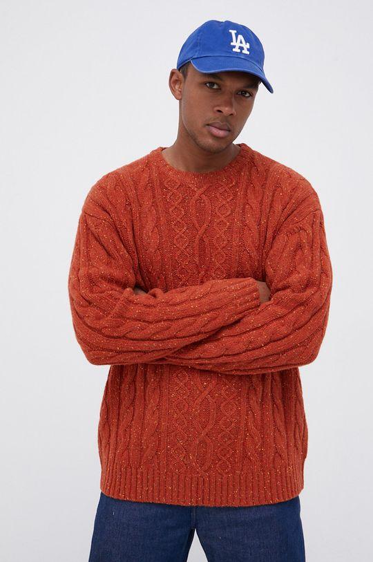 pomarańczowy Levi's - Sweter wełniany Męski