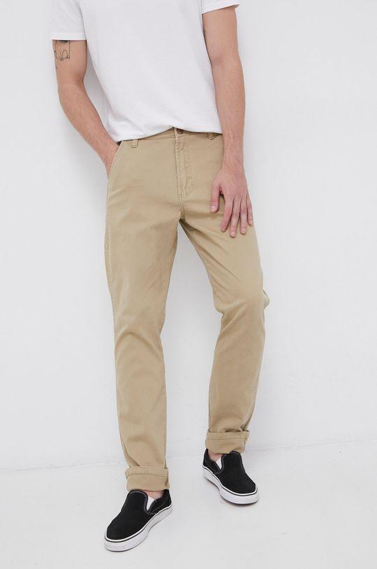 beżowy Wrangler - Spodnie Męski