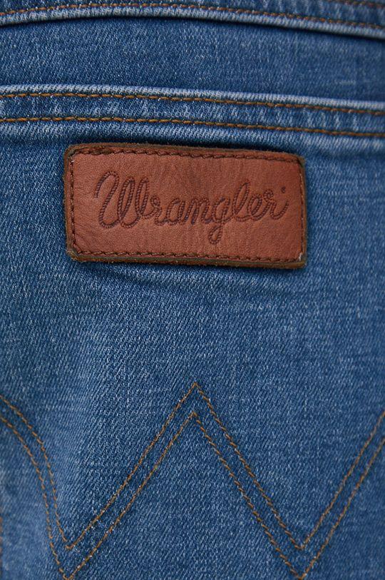 granatowy Wrangler - Jeansy bawełniane Texas Taper