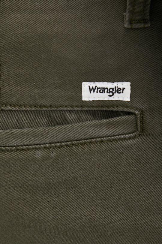 zielony Wrangler - Spodnie
