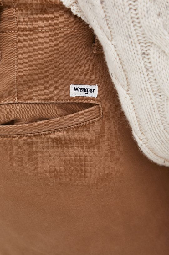 brązowy Wrangler - Spodnie
