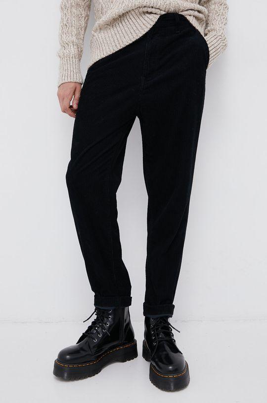 czarny Lee - Spodnie sztruksowe Męski
