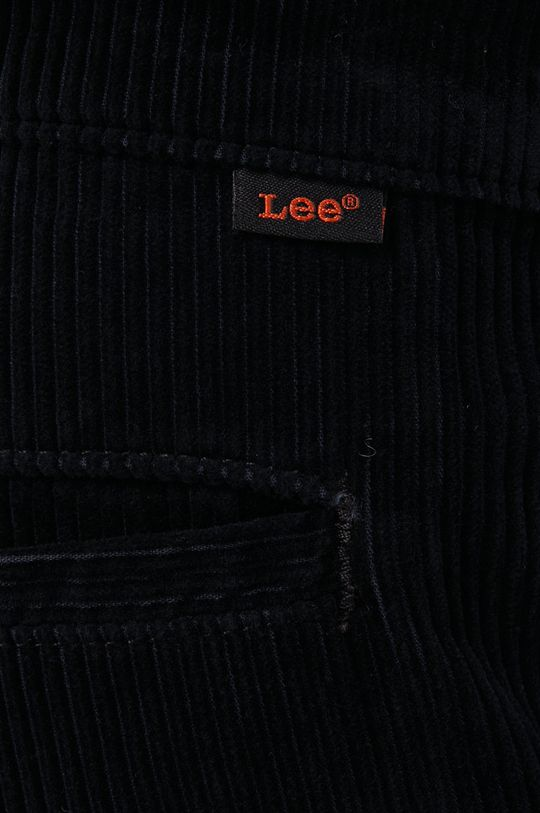 czarny Lee - Spodnie sztruksowe