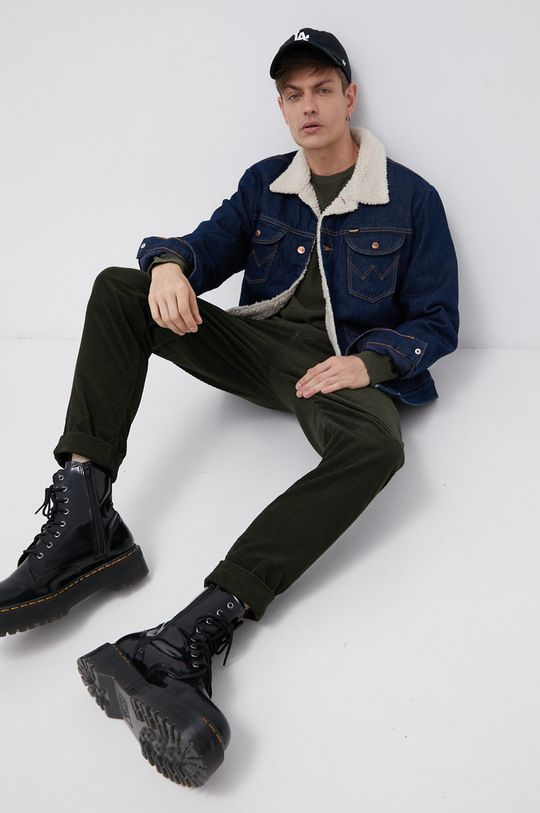zielony Lee - Spodnie sztruksowe Męski