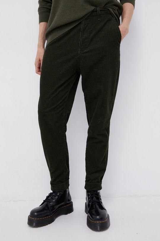 Lee - Spodnie sztruksowe zielony