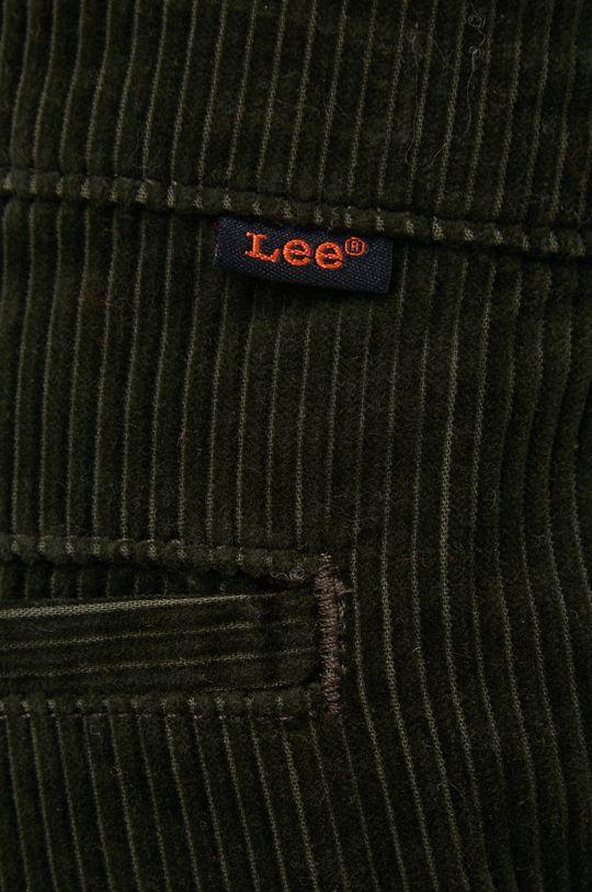 zielony Lee - Spodnie sztruksowe
