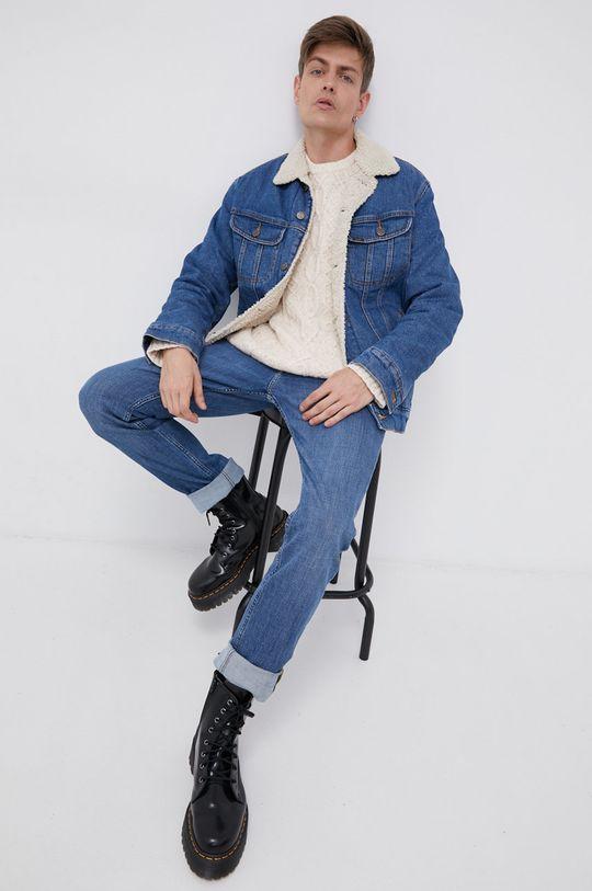 niebieski Lee - Jeansy Rider Męski