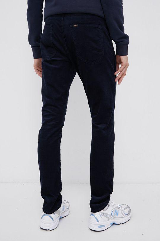 granatowy Lee - Spodnie sztruksowe