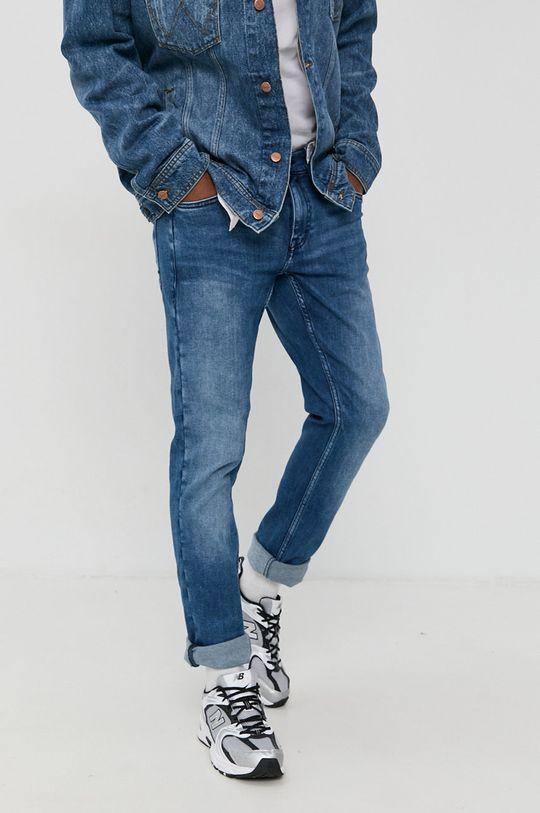 niebieski Mustang - Jeansy Oregon Męski