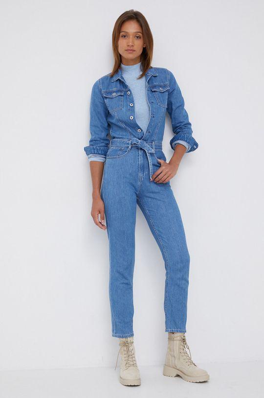 Pepe Jeans - Kombinezon jeansowy Callie niebieski