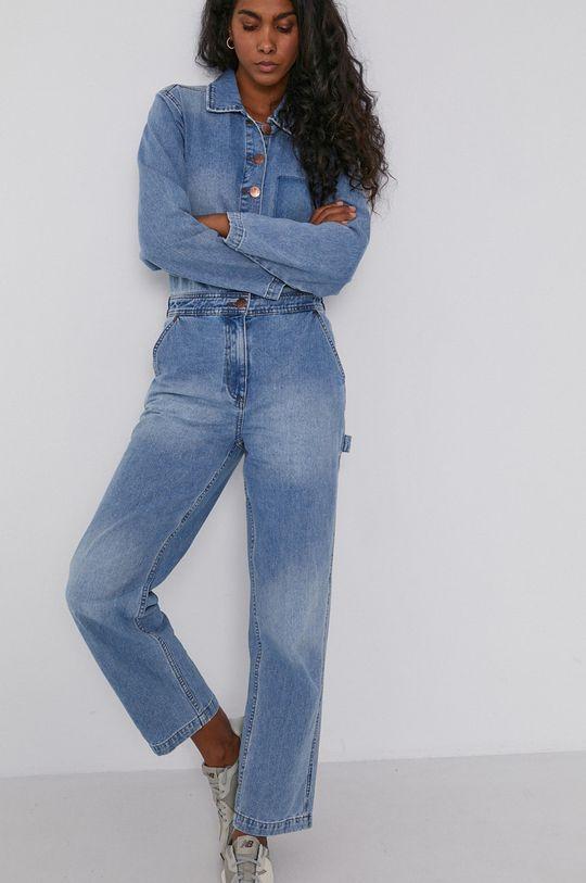 Billabong - Kombinezon jeansowy x Wrangler niebieski