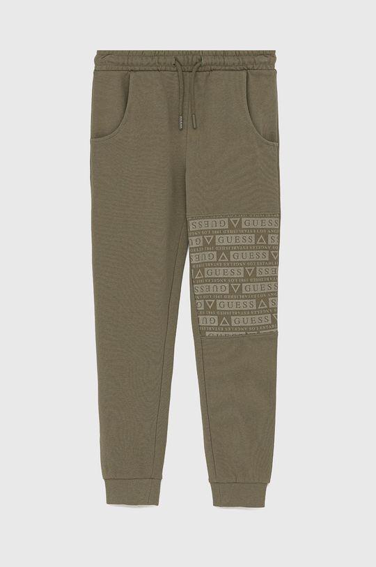 khaki Guess - Dětské kalhoty Chlapecký