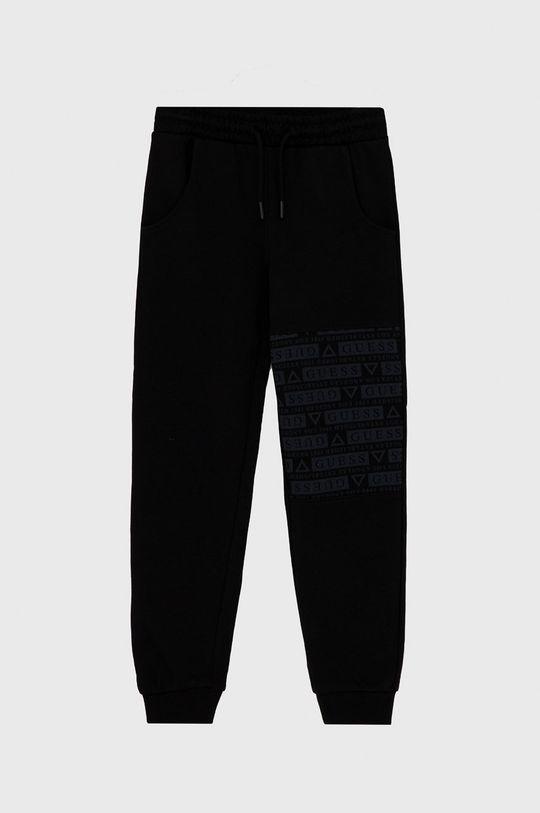 černá Guess - Dětské kalhoty Chlapecký