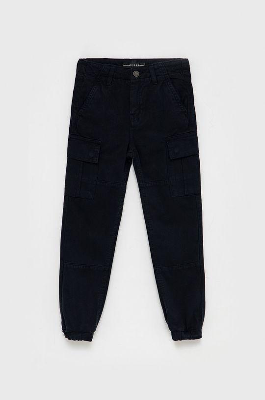 granatowy Guess - Spodnie dziecięce Chłopięcy