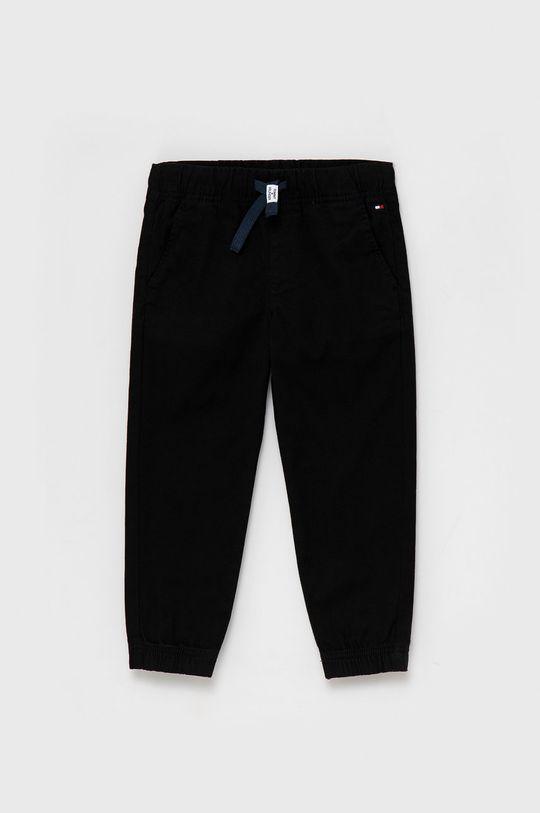 czarny Tommy Hilfiger - Spodnie dziecięce Chłopięcy