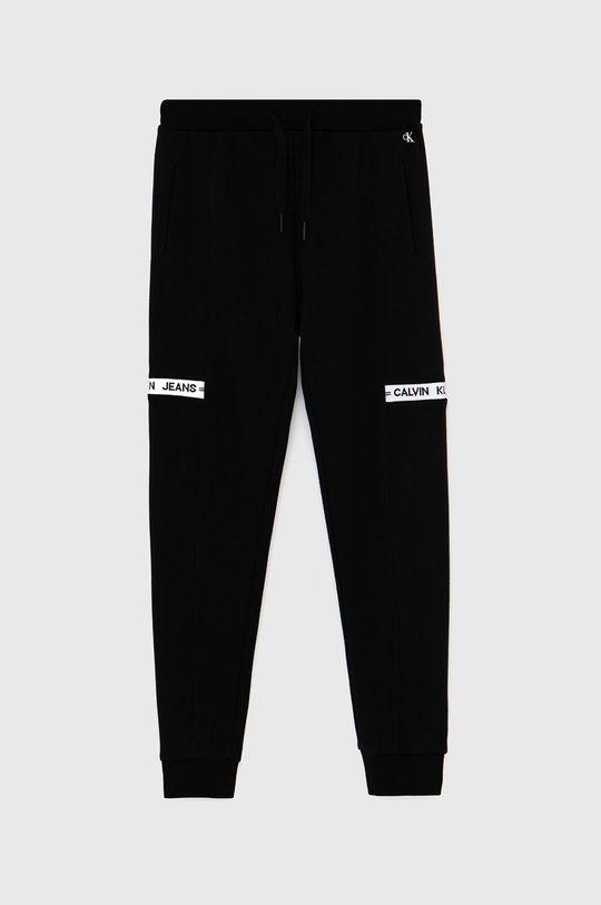 černá Calvin Klein Jeans - Dětské kalhoty Chlapecký