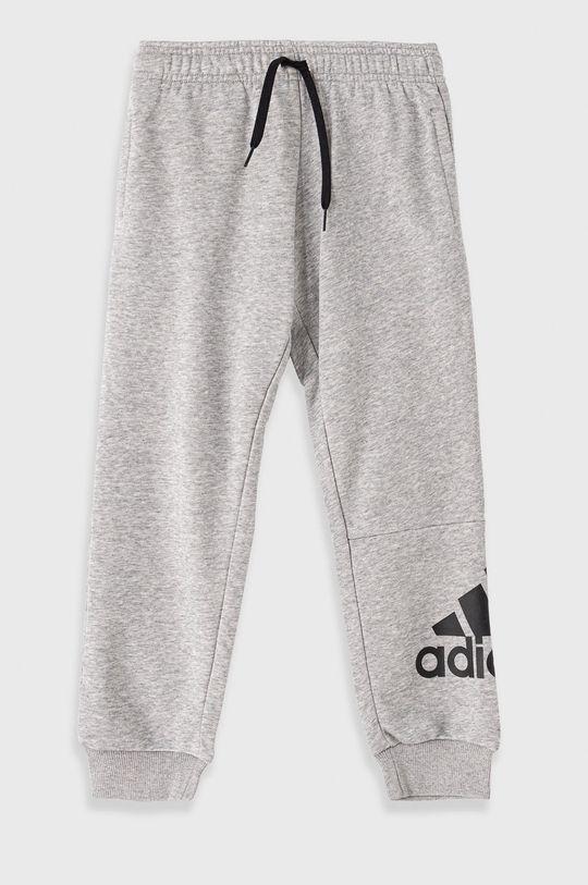 szary adidas - Spodnie dziecięce Chłopięcy