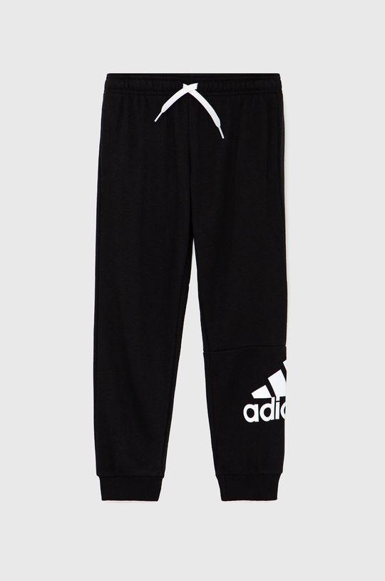 černá adidas - Dětské kalhoty Chlapecký