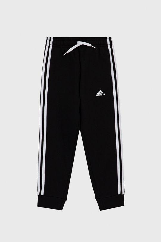 czarny Adidas - Spodnie dziecięce Chłopięcy