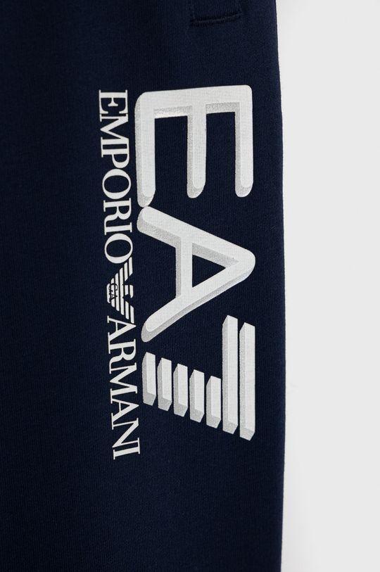 EA7 Emporio Armani - Spodnie dziecięce granatowy