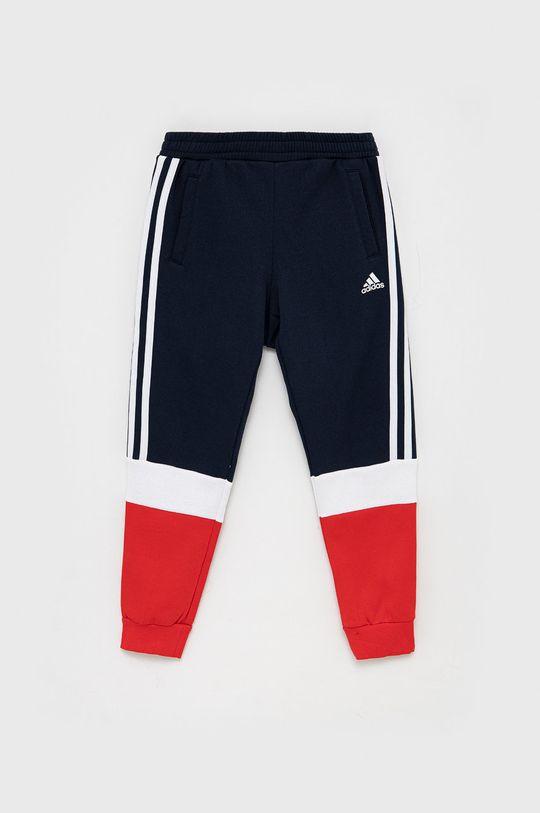 granatowy adidas - Spodnie dziecięce Chłopięcy