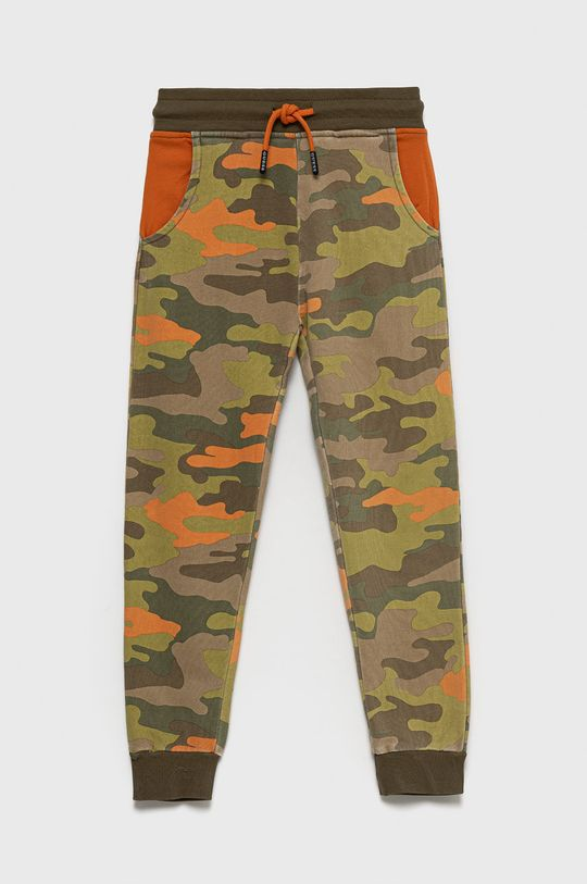 Guess - Spodnie bawełniane dziecięce zielony