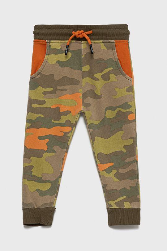 zielony Guess - Spodnie bawełniane dziecięce Chłopięcy