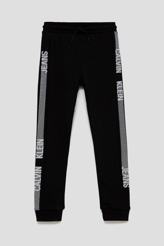 czarny Calvin Klein Jeans - Spodnie bawełniane dziecięce Chłopięcy